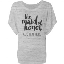Maid Of Honor Custom Script