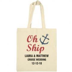 Oh Ship Nautical Wedding Tote Bag
