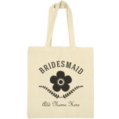 Custom Modern Floral Bridesmiad