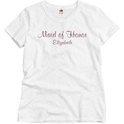 Simple Maid Of Honor Tee
