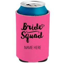 Bride Squad Trendy Koozie