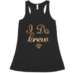 I Do Crew, Bachelorette Tank Top In Gold Foil Print