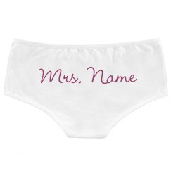 d6b711c3605 Mrs. Name Here Personalized Panties