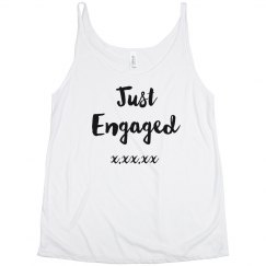 Just Engaged Custom Muscle Tee