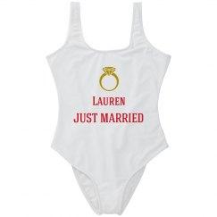 Just Married Swimwear