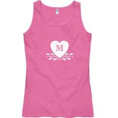 Monogram Tank Top Pink