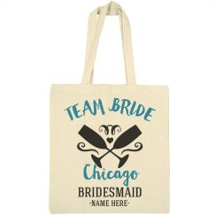Team Bride Chicago Custom City Tote