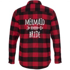 Mermaid Bride Flannel Shirt