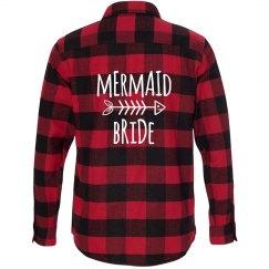 Mermaid Bride Flannel Shirt