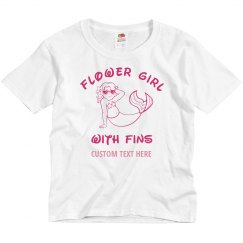 Mermaid Flower Girl With Fins Custom Tee
