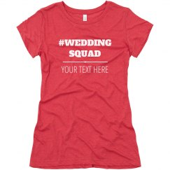 Bride's Wedding Squad Custom Bachelorette Party Shirts
