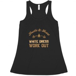 White Dress Work Out Tank