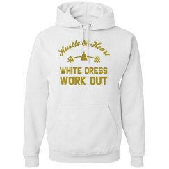 White Dress Work Out Hoodie