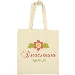 Beautiful tote bag for bridesmaid