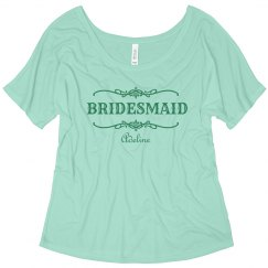Green Bridesmaid Scroll