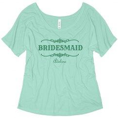 Green Bridesmaid Scroll
