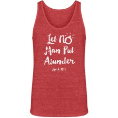 Let No Man Put Asunder Verse White Words Jersey Tank