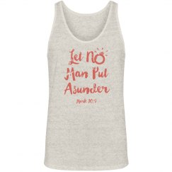 Let No Man Put Asunder Verse Coral Words Jersey Tank