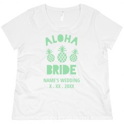 Custom Wedding Date Aloha Bride