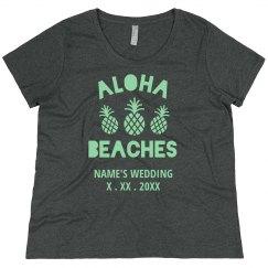 Custom Wedding Date Aloha Beaches