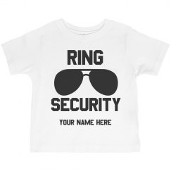 Ring Bearer Ring Security Custom Tee