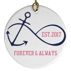 Forever & Always 2017 Ornament
