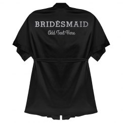 Custom Bridesmaid Metallic Robe