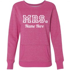 Varsity Mrs. Name Here Glitter