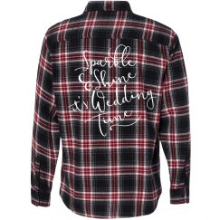Sparkle and Shine Wedding Time Flannel Shirt