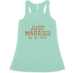 Custom Just Married High Neck Tank