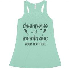 Bridesmaid Champagne Membrane