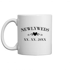 Trendy Custom Date Newlyweds