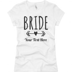 Bride Arrows Custom Text
