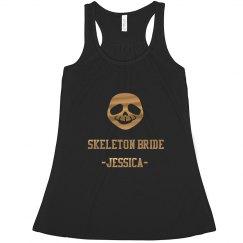 Skeleton Bride Halloween Tank