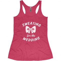 Sweating for Wedding Bride to be