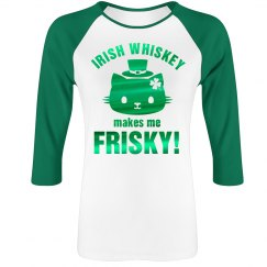 Metallic Irish Whiskey Cat Raglan