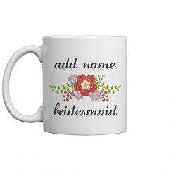 Custom Floral Bridesmaid Gift