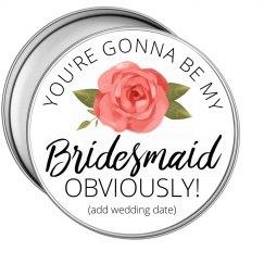 Floral Bridesmaid Proposal Tin