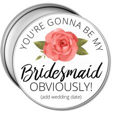 Floral Bridesmaid Proposal Tin