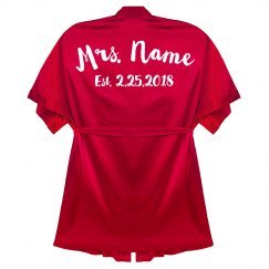 Personalized Bride-to-Be Robe