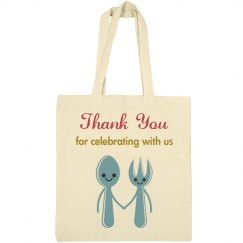 Cute favor tote bag for wedding
