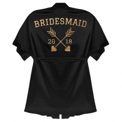 Bridesmaid Rose Gold Metallic Robe