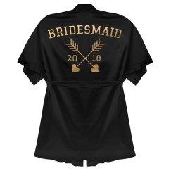Bridesmaid Rose Gold Metallic Robe
