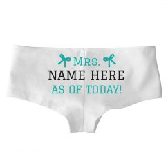 Add Your Name Just Married Underwear