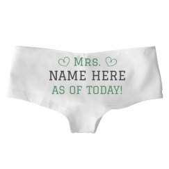 Customized Mrs. Name Underwear