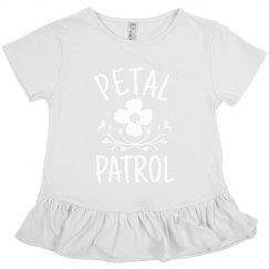 Petal Patrol Flower Girl Tee