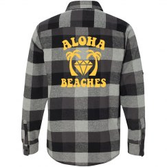 Aloha Beaches Flannel Shirt