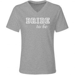 Bride To Be Varsity Text
