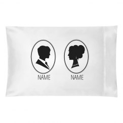 Custom Couples Name Silhouettes