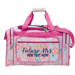 Future Mrs. Name Floral Print